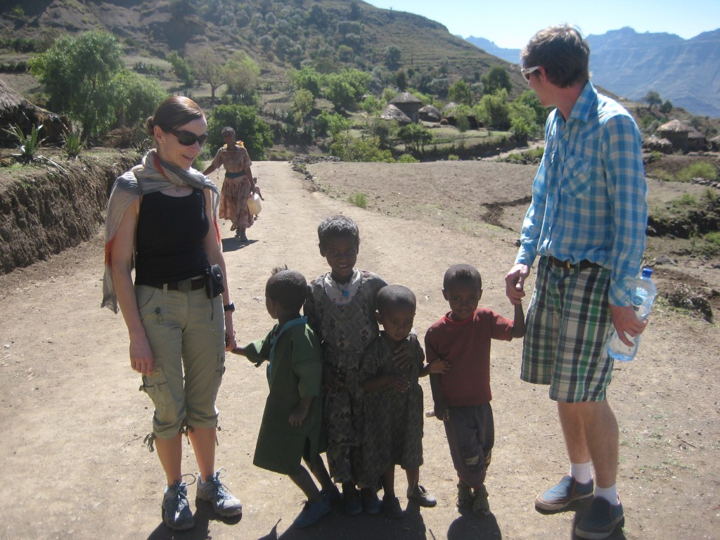 DHR Communications Managing Director, Catherine Heaney, pictured during a trip to Lalibela with the business-to-business charity Connect Ethiopia as part of our CSR activities