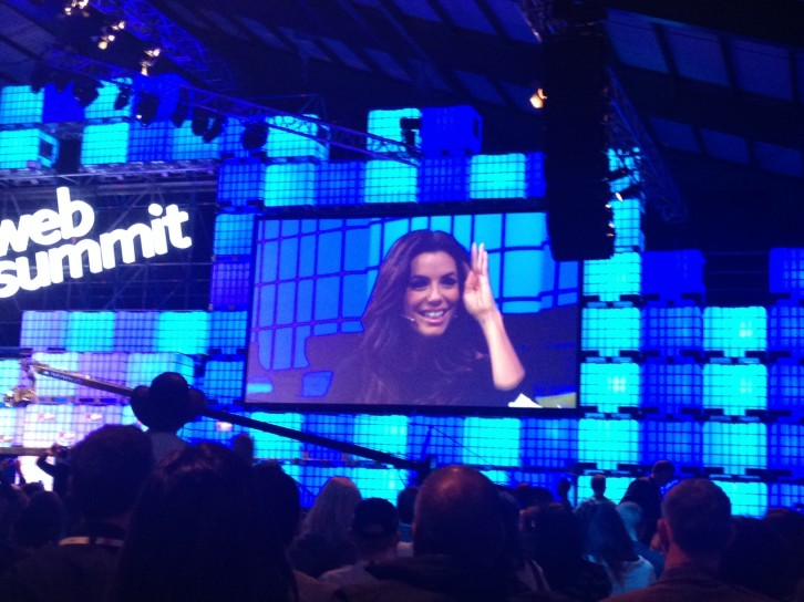 Eva Longoria speaking at the Web Summit