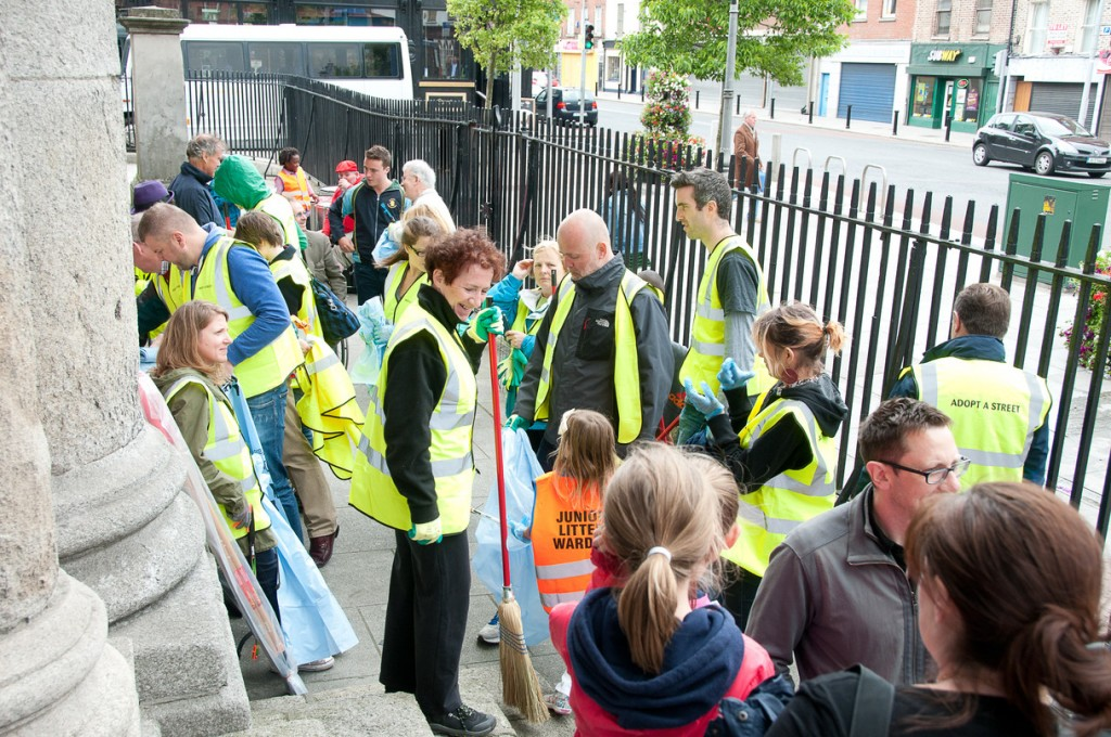 Thomas Street Business Association Community Clean-Up Day Corporate Social Responsibility