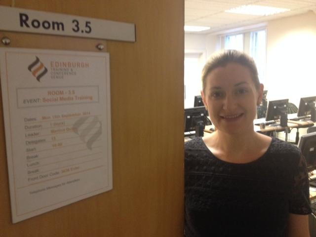 Martina Quinn at ARA Social Media Training in Edinburgh