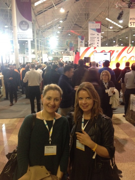 DHR's Martina & Emily queuing to attend a talk with Neil Jordan
